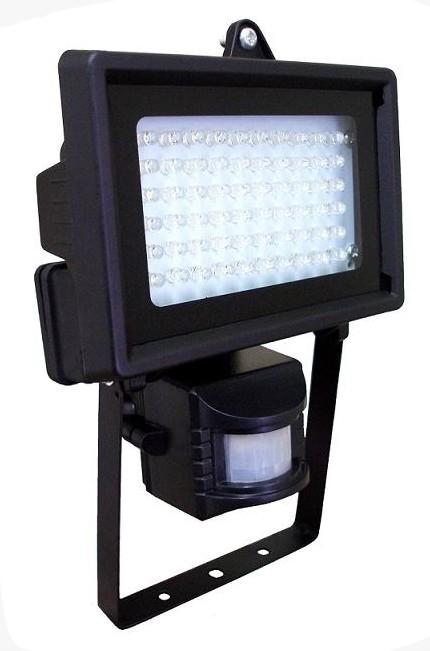 Refletor com sensor de movimento 60 LEDs brancos alto brilho