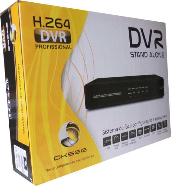 DVR H264 digital 120fps 4canais visualização internet android iphone