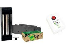 Instalação Fechadura Eletromagnética utilizando fonte com botão, timer e carregador bateria.