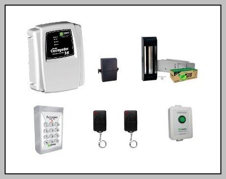 Kit Controle Acesso sem fio Controle Remoto + Fechadura Eletromagnética